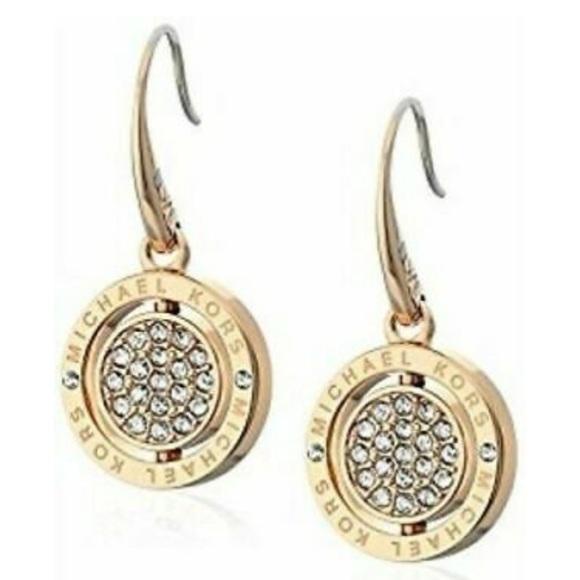 Michael Kors Jewelry - Michael Kors Gold Tone Flip Glitz Drop Earrings
